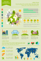 Ecology eco friendly energy world infographic set with graphs and charts vector illustration 60016029772| 写真素材・ストックフォト・画像・イラスト素材|アマナイメージズ