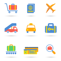 Airport icon flat set of transportation travel vehicle isolated vector illustration. 60016029820| 写真素材・ストックフォト・画像・イラスト素材|アマナイメージズ