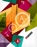 Futuristic abstract 3d infographic composition. Paper geometric shapes with options and space for text. Can be used for web bann 60016035112| 写真素材・ストックフォト・画像・イラスト素材|アマナイメージズ